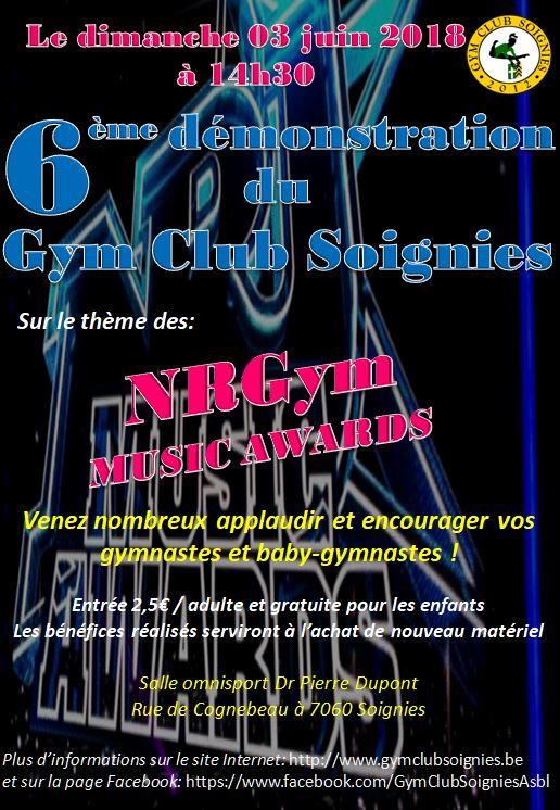 Le 03-06-2018 6ème Démo du Gym Club Soignies
