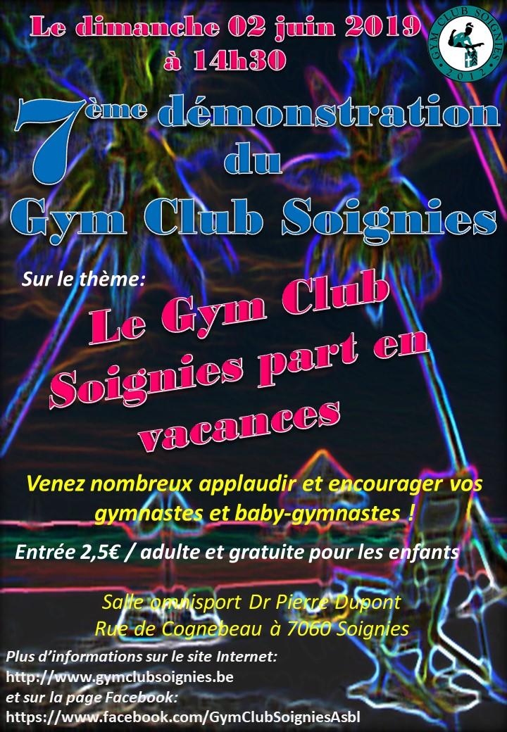 Le 02/06/2019 7ème démonstration du Gym Club Soignies