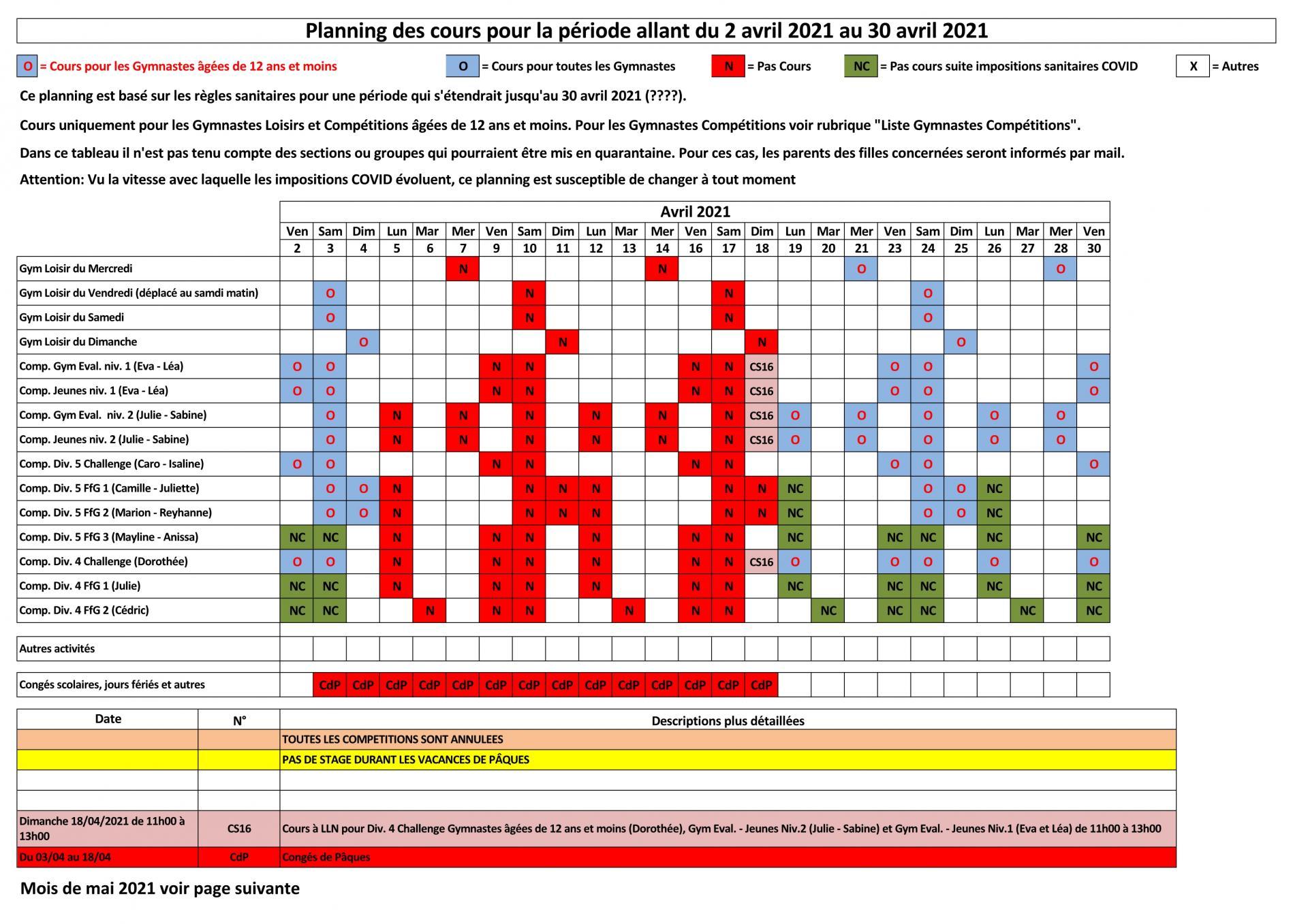 20210401 planning des cours suite covid page1